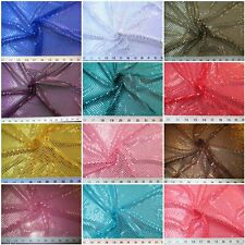 Stretch Glitter Mesh Fabric Sequin Dots Choose Your Color