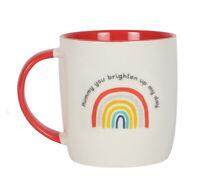 Rainbow Ceramic Mug - Gift Boxed - Mummy you Brighten Up My Day