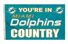 Miami Dolphins 3x5 Country Design Flag [New] Nfl Banner Sign Fan Wall House