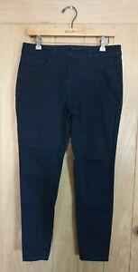 Next size 12 petite black stretch denim skinny jeans W32 L27
