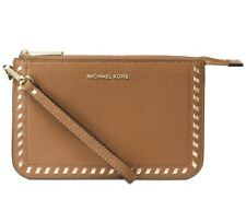 NWT Michael Kors Lauryn Medium Wristlet Leather ACORN whipstitching~MSRP$118