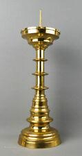 Großer Scheibenleuchter, Messing, 19. Jahrhundert, Neogotik, 45,5 cm