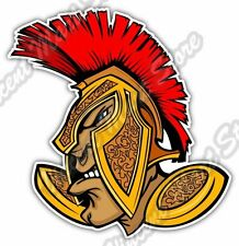 "Spartan Trojan Soldier Helmet Head Gift Car Bumper Vinyl Sticker Decal 4""X5"""