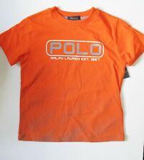 Polo Ralph Lauren Boys Outpost Graphic Short Sleeve T Shirt Orange Sz L (14-16)