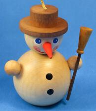 Natural Mini Snowman Snowball German Ornament ORR135X63