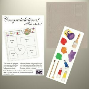 Creative Memories - TTY Kit - You Are A Work of Art - Paint Pallette, Brush