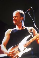 Photo of Sting of The Police in concert, original 12 x 8 inches by Mel Longhurst