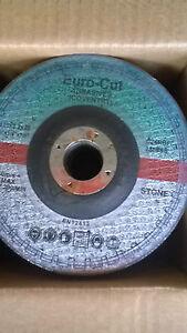 CUTTING DISCS 115MM X 3MM X 22MM DEPRESSED CENTRE STONE EURO CUT BOX OF 25