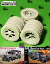 "1/35. ""Henschel 33"" Later Type correct wheels set, by ""Leadwarrior"" LW 35226"