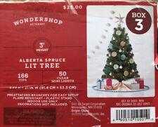 Alberta Spruce Lit Tree 3 Feet Talk With 50 Clear Mini Lights Christmas