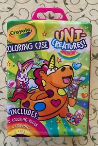 Crayola Uni-creatures Coloring Kit with Case for Kids   (New)