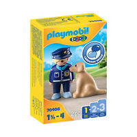 Playmobil 123 Police Officer With Dog Building Set 70408 NEW IN STOCK