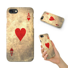 ACE OF HEARTS PLAYING DECK CARDS BACK HARD CASE COVER FOR APPLE IPHONE