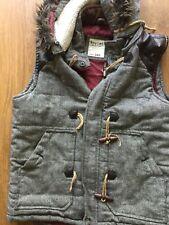 Soviétique-Homme noir et gris corps chauffe-Veste-Large L Veste Manteau avec capuche