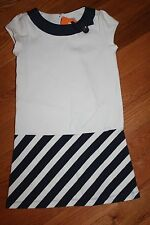 NWT Gymboree Cape Cod Cutie Size 7 Navy Blue White Striped Ponte Dress