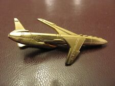 US Air Force  Jet Airplane TIE CLIP Clasp Gold Tone USAF