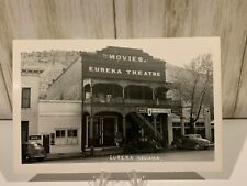RPPC-Eureka NV-Movie Theater-Early Western-Nev-Nevada-Real Photo-RP