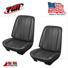 1970 Chevelle Coupe Front / Rear Seat Upholstery  Black Vinyl IN STOCK! by TMI