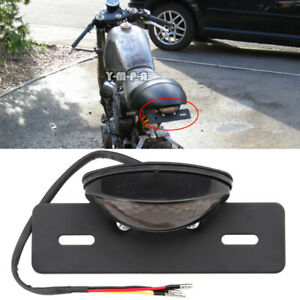 Motorcycle 12V LED Brake Tail Light Lamp License Plate Light for Harley Honda MT