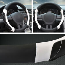 "15"" Car Non-Slip Steering Wheel Cover Breathable Microfiber Leather Four Seasons"