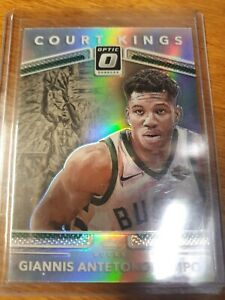 2017-18 Donruss Optic Giannis Antetokounmpo Silver Holo Court Kings #24 Prizm