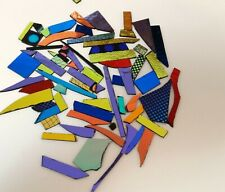 Fused glass dichroic glass scraps 90 COE assorted colors