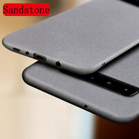 For Samsung Galaxy S20 S21 Ultra S10 + Ultra-thin Sanstone Matte Hard Case Cover