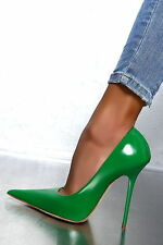 1969 Pumps 13 cm Sexy green spitz pointy fetish sky high heels 43 44 nib