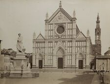 c1865 Fratelli ALINARI Basilique Santa Croce FLORENCE FIRENZE ITALIE ITALY