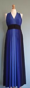 Precis Ladies Long Blue Evening Dress Size Medium New With Tags