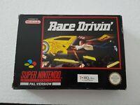 Race Drivin - Super Nintendo SNES Game [PAL UKV] CIB boxed + manual