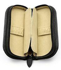 Orbita Verona 2 Double Travel Watch Storage Case Black Fine Leather W93001