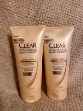2 Each Clear Scalp & Hair Ultra Shea Deep Nourishing Treatment Mask 6 fl oz