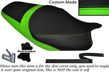 Luz Verde Y Negro Custom encaja Kawasaki Zzr 1400 Zx14r 1214 de doble cubierta de asiento