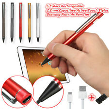 2.3mm 4x Tip & Active Touch Screen Stylus Drawing Pen For Android Tablet iPhone