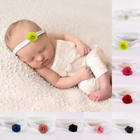 Newborn Baby Girls Kids Cute Infant Flower Headband Elastic Hair Band Photo Prop