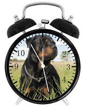 Rottweiler Alarm Desk Clock Home or Office Decor F92 Nice Gift