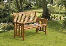 Suntime Hardwood Camillion 2 Seater Wooden Garden Bench Outdoor Seat Patio Chair