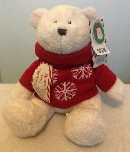 Mamas & And Papas SANTA IS COMING Christmas Bear Soft plush beanie