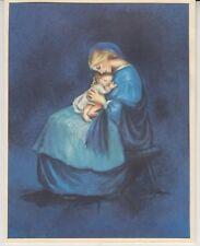 FINE Tasha Tudor Vintage Irene Dash Co Christmas Refurbished Card Madonna Child