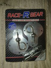 Race R Gear Fast Car Titanium Effect Bonnet Pins Custom Project