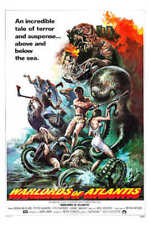 1978 Warlords Of Atlantis Vintage Sci-Fi Movie Poster Print Style A 54x36 Big