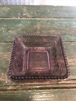 Vintage Tiara Indiana Glass Footed Dish Grapes Box, Purple No Lid