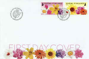 Finland Flowers Stamps 2021 FDC Flower Garden Nature Flora 2v S/A Set