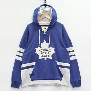 Toronto Maple Leafs CCM Tie Up Sweatshirt Hoodie Size XL NHL Embroidered