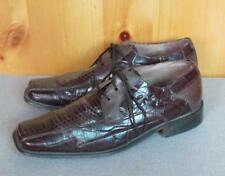 Vintage Stacy Adams Brown Snake Skin Leather Loafers Shoes Size 8 Very Sharp!