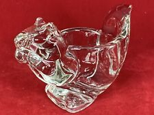 Vintage Avon Clear Glass Squirrel Figure Tea Light Votive Candle Holder