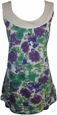 Stretch Casual Floral Sleeveless Tops & Shirts for Women