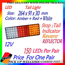 2x 12v LED Tail Light UTE Trailer Caravan Stop Tail Indicator Reverse Reflector