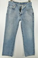 Lucky Brand Low Rise Bootleg Button Fly USA Jeans Mens Size 33 Blue Meas. 32x32